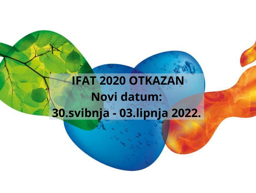 IFAT 2020 je otkazan - sljedeći IFAT: 30. svibnja - 03. lipnja 2022.